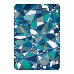 Abstract Background Blue Teal Kindle Fire Hdx 8 9  Hardshell Case