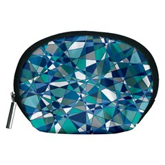 Abstract Background Blue Teal Accessory Pouches (medium)