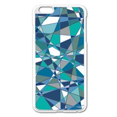Abstract Background Blue Teal Apple Iphone 6 Plus/6s Plus Enamel White Case