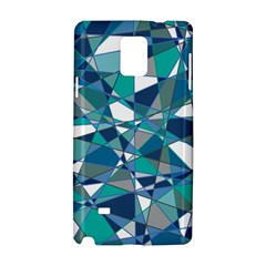 Abstract Background Blue Teal Samsung Galaxy Note 4 Hardshell Case
