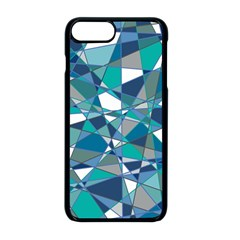 Abstract Background Blue Teal Apple Iphone 8 Plus Seamless Case (black)