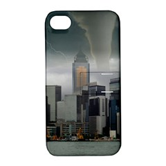 Tornado Storm Lightning Skyline Apple Iphone 4/4s Hardshell Case With Stand