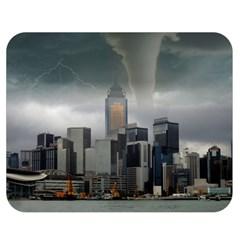 Tornado Storm Lightning Skyline Double Sided Flano Blanket (medium)