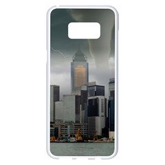 Tornado Storm Lightning Skyline Samsung Galaxy S8 Plus White Seamless Case