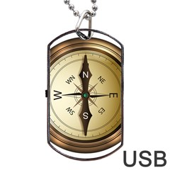 Compass North South East Wes Dog Tag Usb Flash (two Sides)