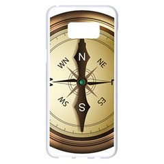 Compass North South East Wes Samsung Galaxy S8 Plus White Seamless Case