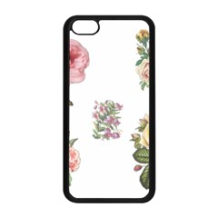 Rose Flowers Campanula Bellflower Apple Iphone 5c Seamless Case (black)