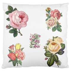 Rose Flowers Campanula Bellflower Large Flano Cushion Case (two Sides)