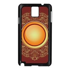 Badge Gilding Sun Red Oriental Samsung Galaxy Note 3 N9005 Case (black)