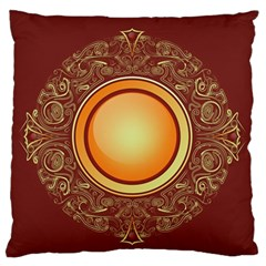 Badge Gilding Sun Red Oriental Standard Flano Cushion Case (two Sides)