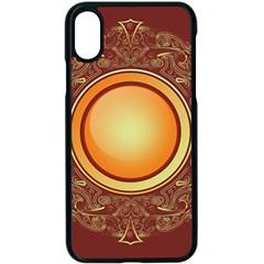 Badge Gilding Sun Red Oriental Apple Iphone X Seamless Case (black)