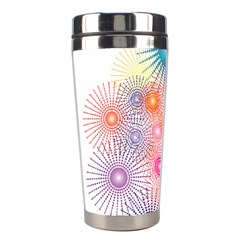 Stars Fireworks Colors Stainless Steel Travel Tumblers