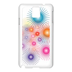 Stars Fireworks Colors Samsung Galaxy Note 3 N9005 Case (white)