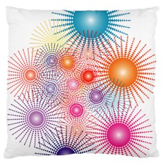 Stars Fireworks Colors Large Flano Cushion Case (two Sides)