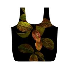 Autumn Leaves Foliage Full Print Recycle Bags (m)