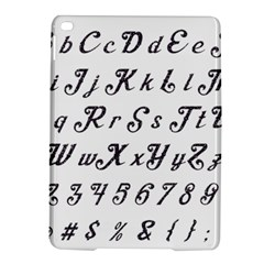 Font Lettering Alphabet Writing Ipad Air 2 Hardshell Cases