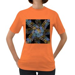 Multi Color Tile Twirl Octagon Women s Dark T Shirt
