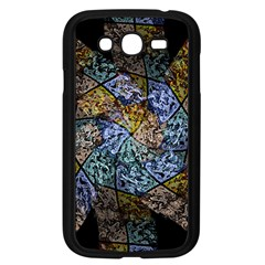 Multi Color Tile Twirl Octagon Samsung Galaxy Grand Duos I9082 Case (black)