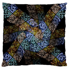 Multi Color Tile Twirl Octagon Standard Flano Cushion Case (one Side)