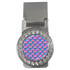 Seamless Flower Pattern Colorful Money Clips (cz)