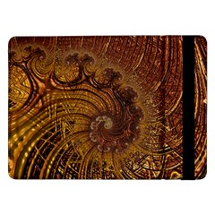 Copper Caramel Swirls Abstract Art Samsung Galaxy Tab Pro 12 2  Flip Case