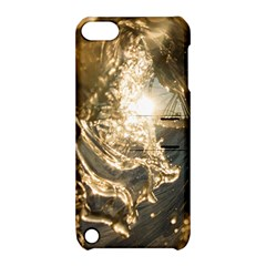 Gold Sea Coast Waves Depier Apple Ipod Touch 5 Hardshell Case With Stand