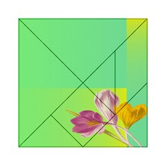 Background Homepage Blossom Bloom Acrylic Tangram Puzzle (6  X 6 )