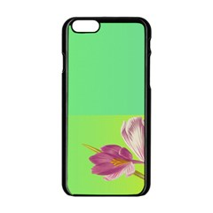 Background Homepage Blossom Bloom Apple Iphone 6/6s Black Enamel Case
