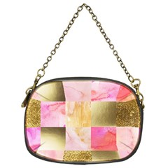 Collage Gold And Pink Chain Purses (one Side)