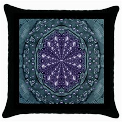 Star And Flower Mandala In Wonderful Colors Throw Pillow Case (black)