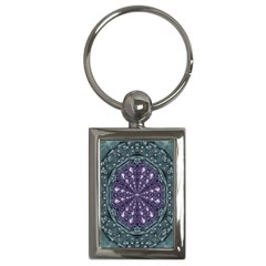 Star And Flower Mandala In Wonderful Colors Key Chains (rectangle)