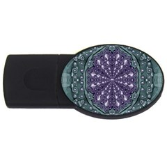 Star And Flower Mandala In Wonderful Colors Usb Flash Drive Oval (2 Gb)