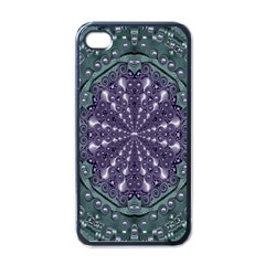 Star And Flower Mandala In Wonderful Colors Apple Iphone 4 Case (black)