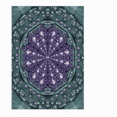 Star And Flower Mandala In Wonderful Colors Large Garden Flag (two Sides)
