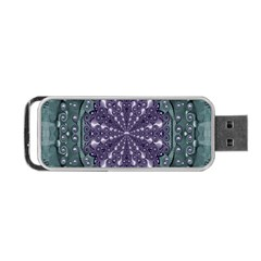 Star And Flower Mandala In Wonderful Colors Portable Usb Flash (two Sides)