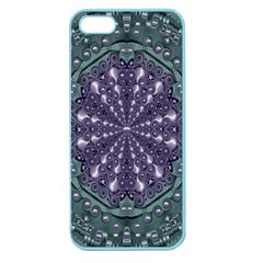 Star And Flower Mandala In Wonderful Colors Apple Seamless Iphone 5 Case (color)