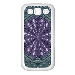 Star And Flower Mandala In Wonderful Colors Samsung Galaxy S3 Back Case (white)