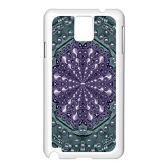 Star And Flower Mandala In Wonderful Colors Samsung Galaxy Note 3 N9005 Case (white)