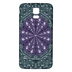 Star And Flower Mandala In Wonderful Colors Samsung Galaxy S5 Back Case (white)