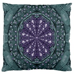 Star And Flower Mandala In Wonderful Colors Standard Flano Cushion Case (one Side)