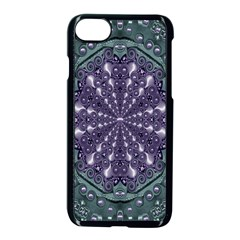 Star And Flower Mandala In Wonderful Colors Apple Iphone 7 Seamless Case (black)