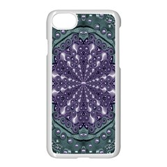 Star And Flower Mandala In Wonderful Colors Apple Iphone 7 Seamless Case (white)