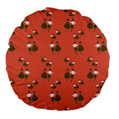 Dance Large 18  Premium Flano Round Cushions