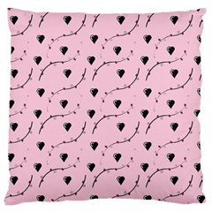 Love Hearth Pink Pattern Large Cushion Case (two Sides)