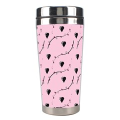 Love Hearth Pink Pattern Stainless Steel Travel Tumblers