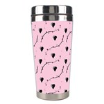 Love Hearth Pink Pattern Stainless Steel Travel Tumblers Left