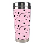 Love Hearth Pink Pattern Stainless Steel Travel Tumblers Center