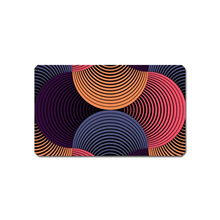 Geometric Swirls Magnet (Name Card)