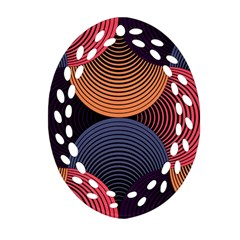 Geometric Swirls Ornament (oval Filigree)