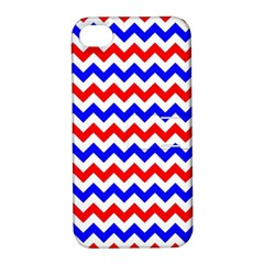 Zig Zag Pattern Apple Iphone 4/4s Hardshell Case With Stand